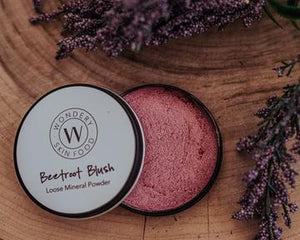 Wondery Skin Food - Beetroot Blush Loose Mineral Powder 20g - Stock Your Pantry