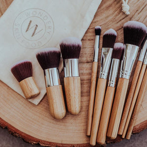 Wondery Skin Food - Natural Bamboo Make Up Brush Set - Stock Your Pantry