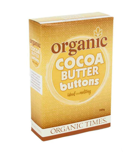 Organic Times Cocoa Butter Buttons 200g - Stock Your Pantry