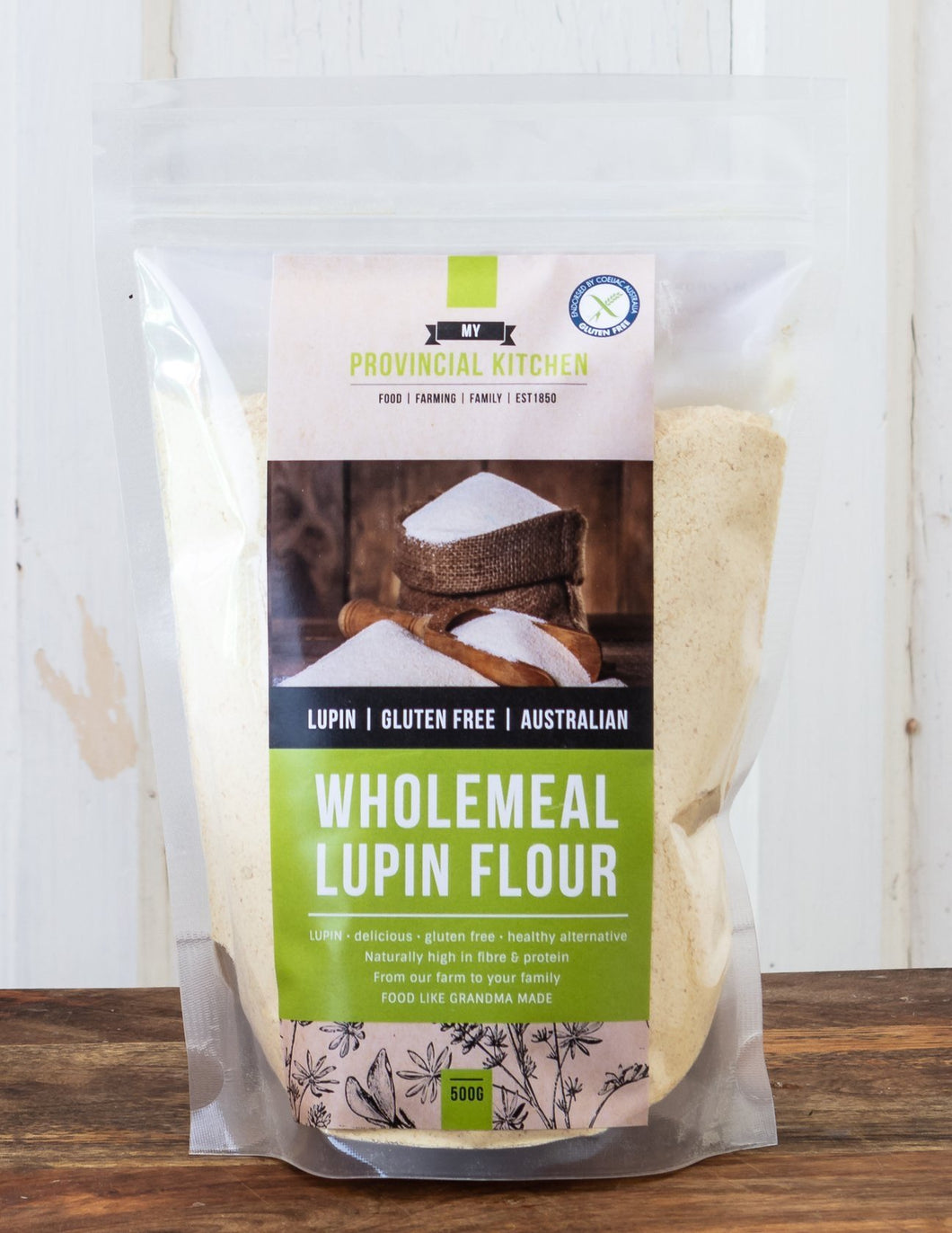 My Provincial Kitchen - Wholemeal Lupin Flour 500g - Stock Your Pantry