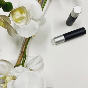 10ml Matte Black Glass Steel Ball Roller Bottle Silver Lid - Stock Your Pantry