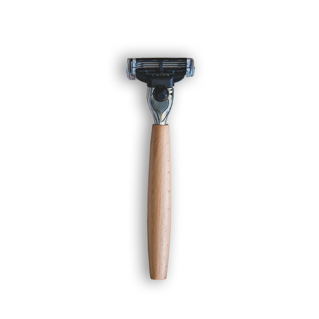 St James Supply Co - Wooden Handle Razor - Stock Your Pantry