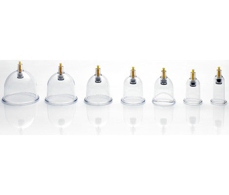 An array of cupping hijama cups
