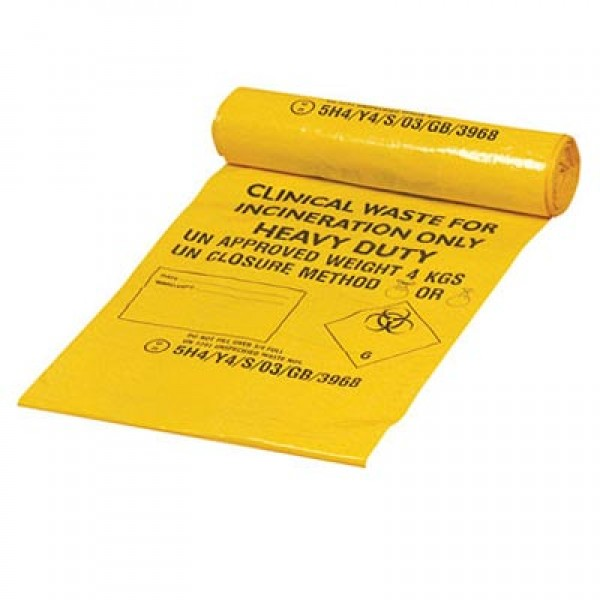 Yellow Clinical Waste Sack