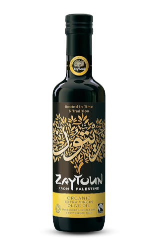 a bottle of zaytoun extra virgin olive oil