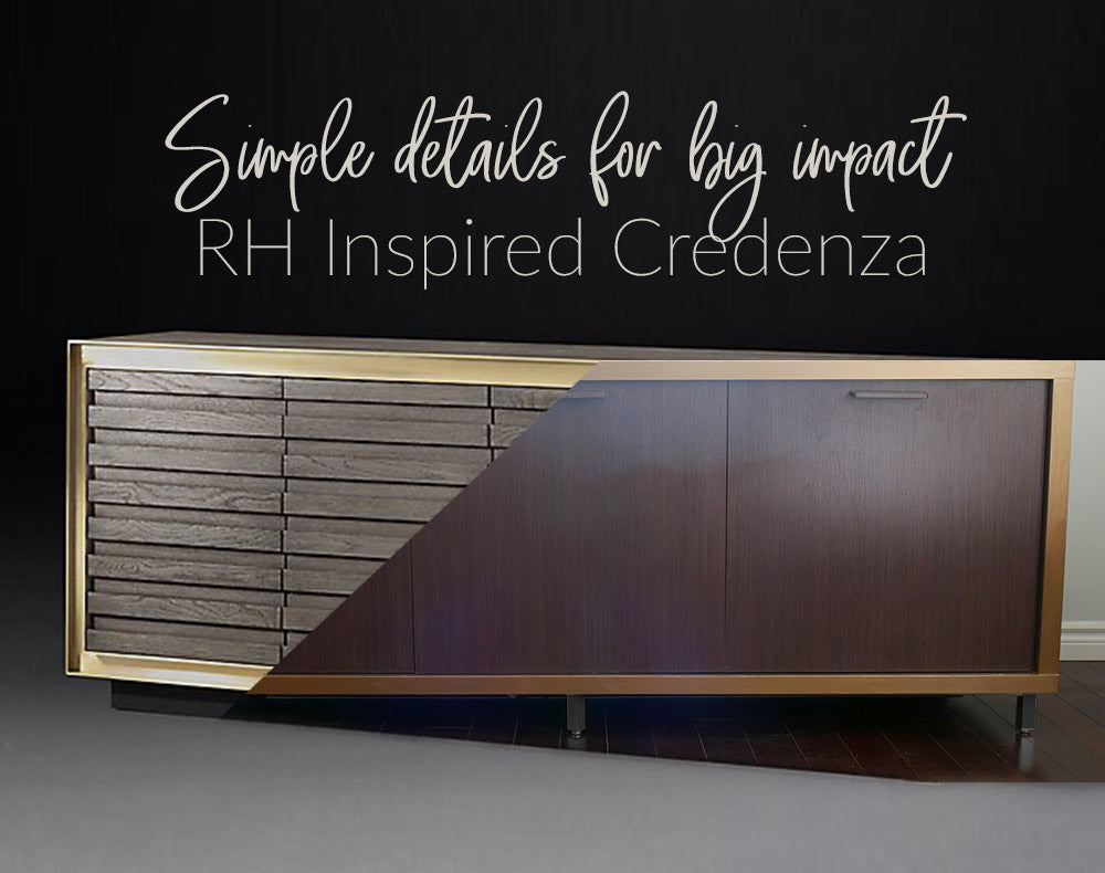 Simple details for big impact: RH Inspired Credenza