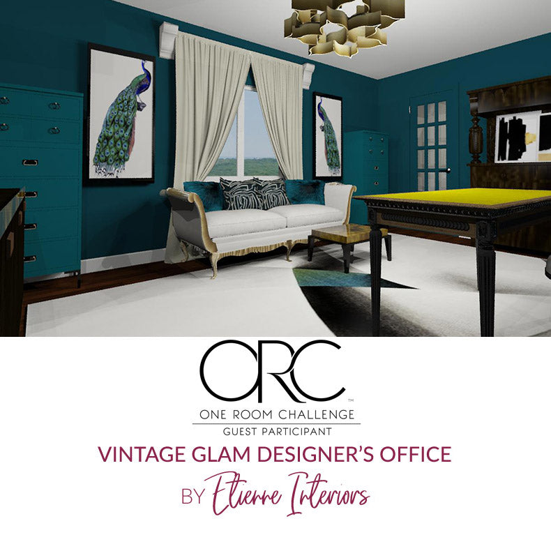Spring 2018 One Room Challenge / Wk 5 / Vintage Glam Designer's Office