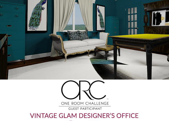 Spring 2018 One Room Challenge / The Reveal / Vintage Glam Designer's Office