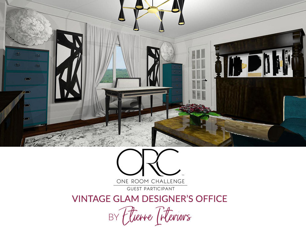 Spring 2018 One Room Challenge / Wk 2 / Vintage Glam Designer's Office