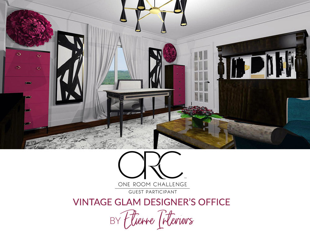 Spring 2018 One Room Challenge / Wk 1 / Vintage Glam Designer's Office