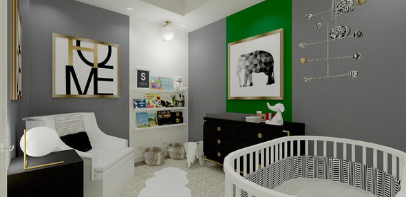Toronto Townhome Chic and Modern Nursery