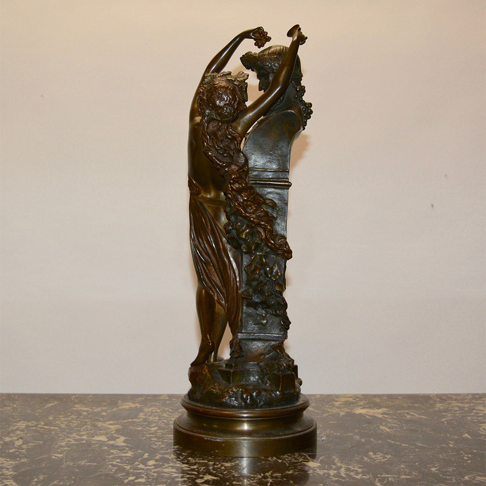 "19th Century Bronze Statue ""Baccus & Bacchante"" by Carrier-Belleuse"