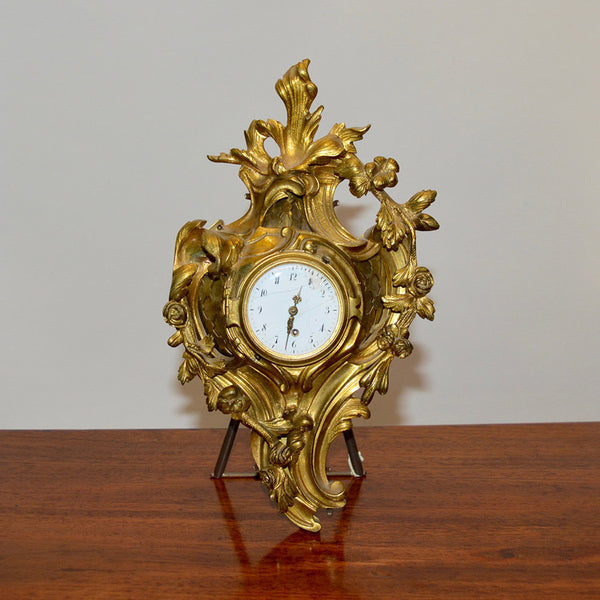 Rare 19th Century Louis XV Bronze Cartel Clock