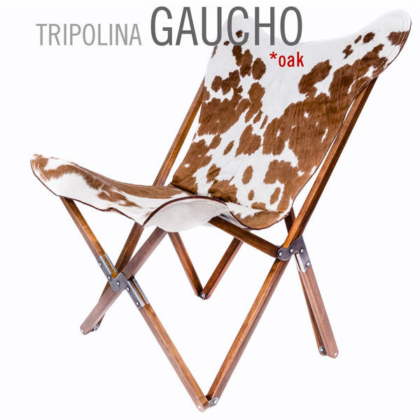 Tripolina Gaucho Cowhide Leather Chair