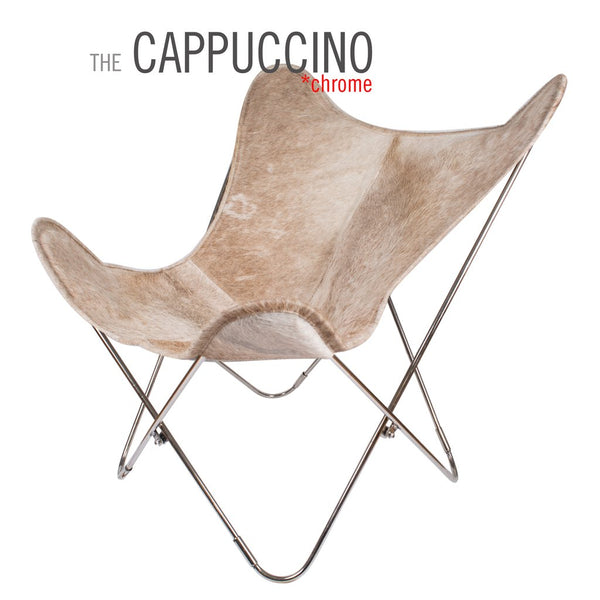 Cappuccino Cowhide Butterfly Leather Chair