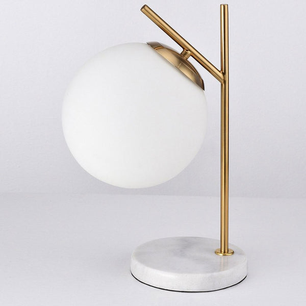 Reproduction of Oda Marble Base Table Lamp