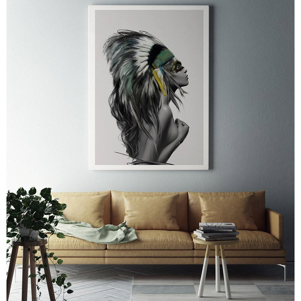 Headdress Art Print by Linn Wold