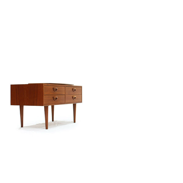 1960's Teak Console with Swivel top Designed by Kai Kristensen