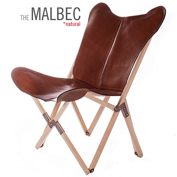 Tripolina Polo Malbec Leather Chair