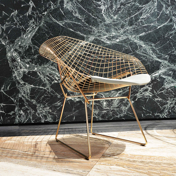Reproduction Bertoia Diamond Lounge Chair - Gold