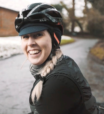 Riding in the snow with endurance cyclist Laura Scott