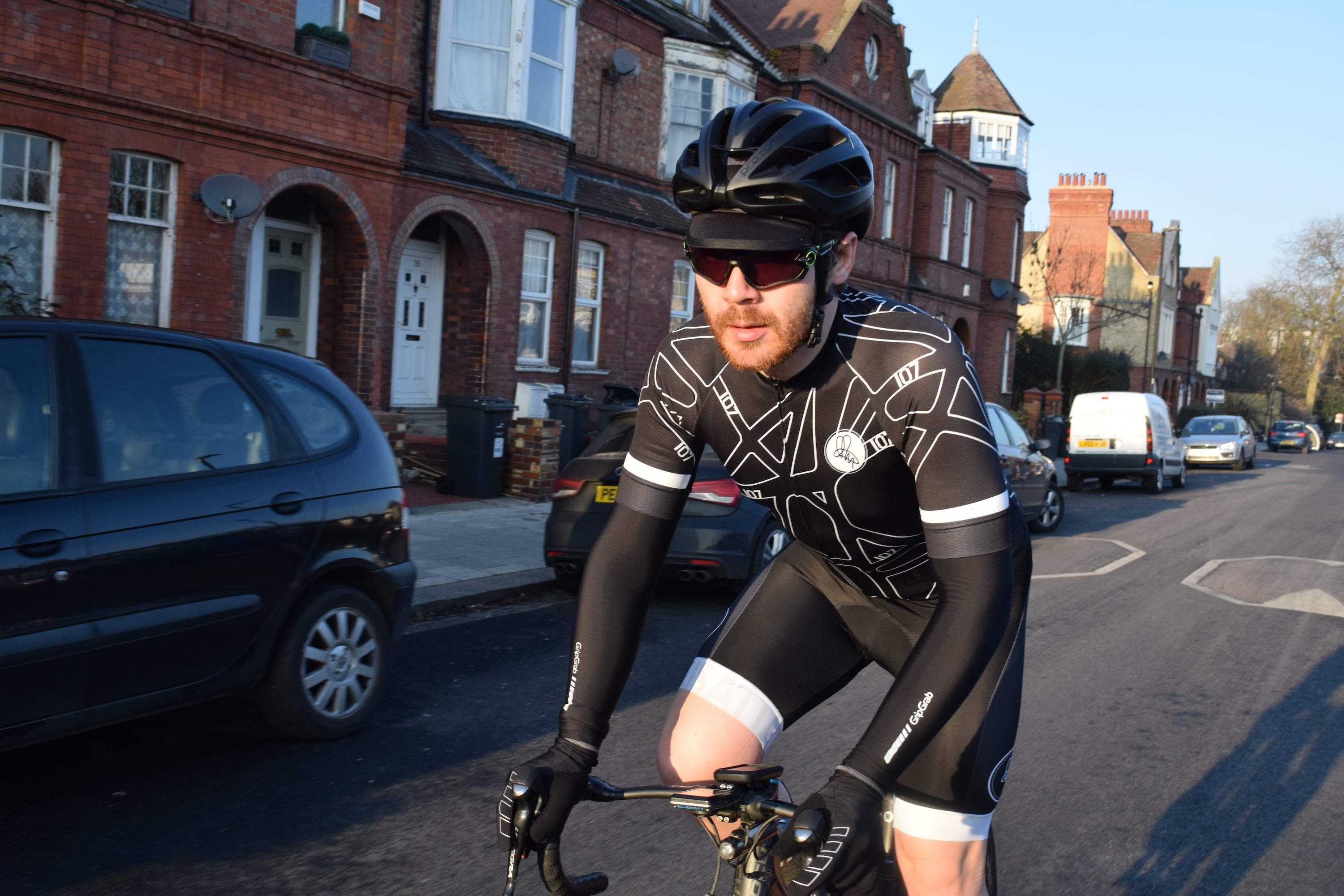 7e56fc4e8 Endurane Cyclist Chris Hall on his 107 for 107 challenge in special edition  jersey and dark