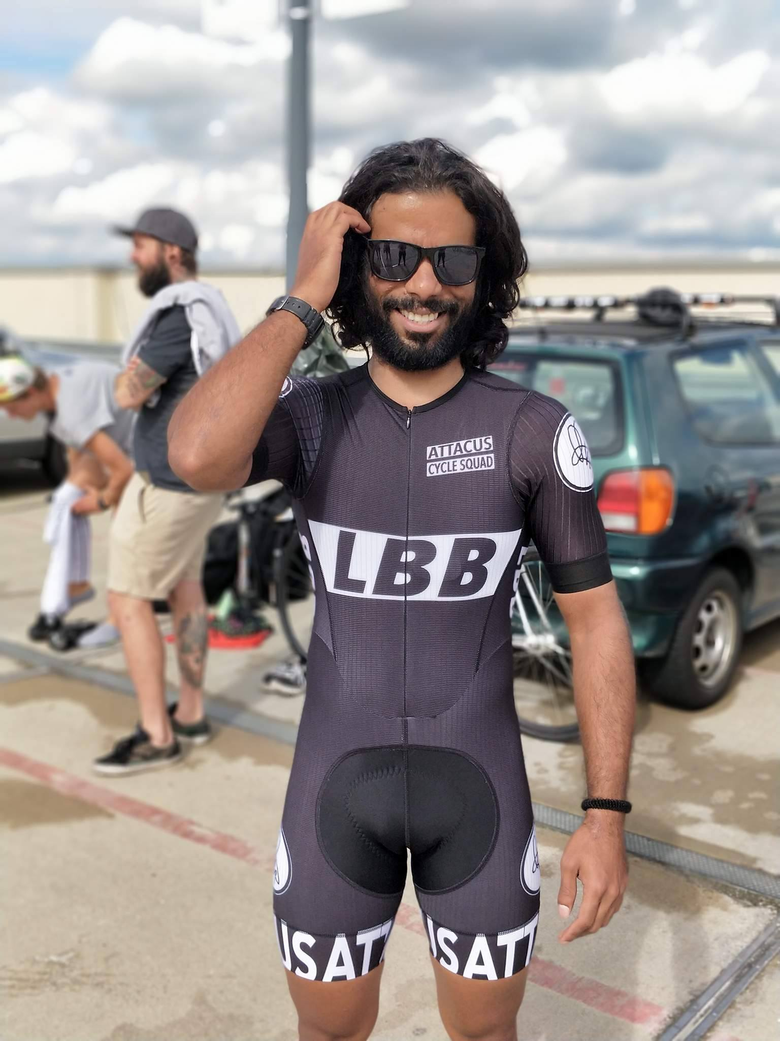 Ben Joseph rides his first fixed crit race in Attacus Cycle Squad skin suit