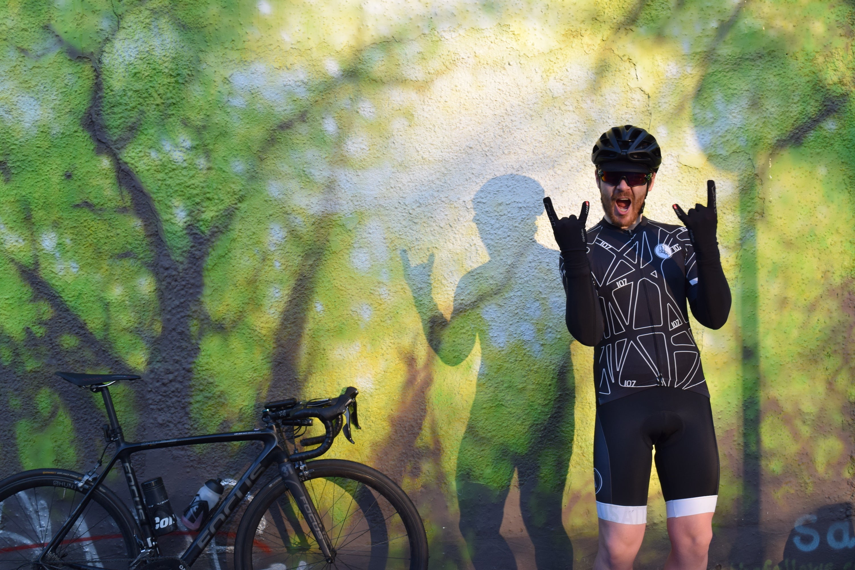 Endurance cyclist Chris Hall rides 107 for 107 challenge in Attacus Cycling jersey