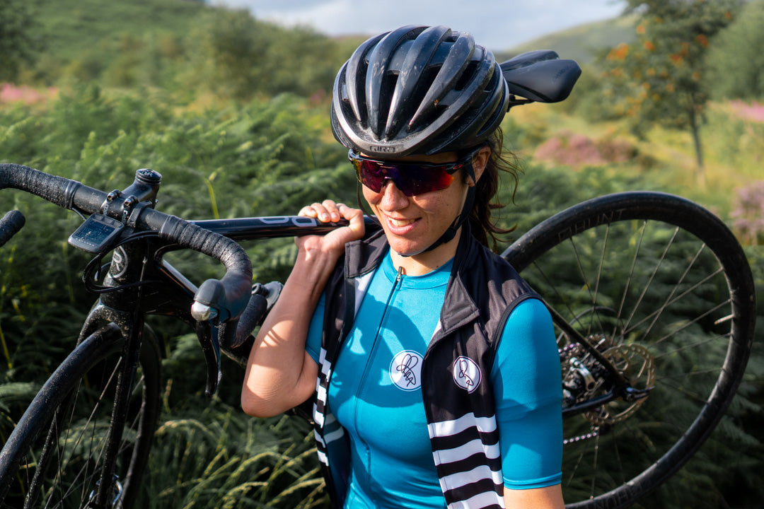 Attacus women's cycling jersey and gilet vest
