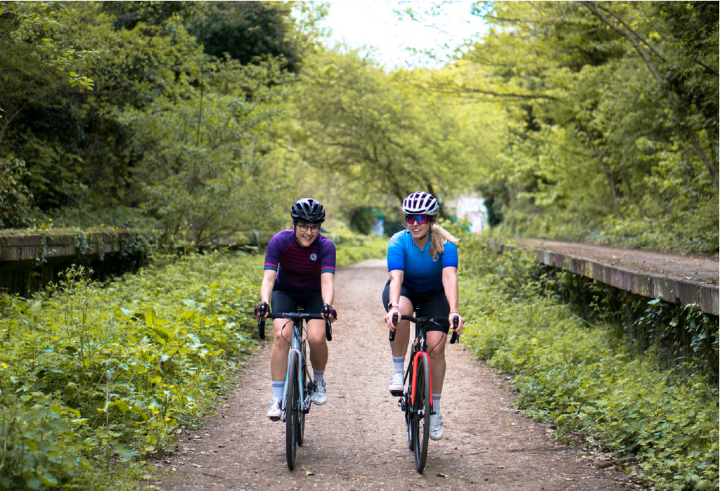 0510d52b7 Emily Childs and Laura Scott wear the Attacus Cycling Sweet Spot Jersey and  Bib Shorts ...