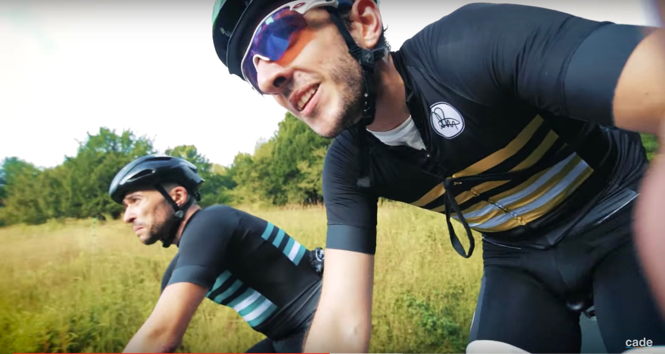 Red Hook Crit videographer Francis Cade rides Box Hill, Surrey, in Attacus Cycling jersey and bib shorts