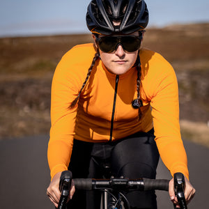 Orange Thermal Long Sleeve Jersey