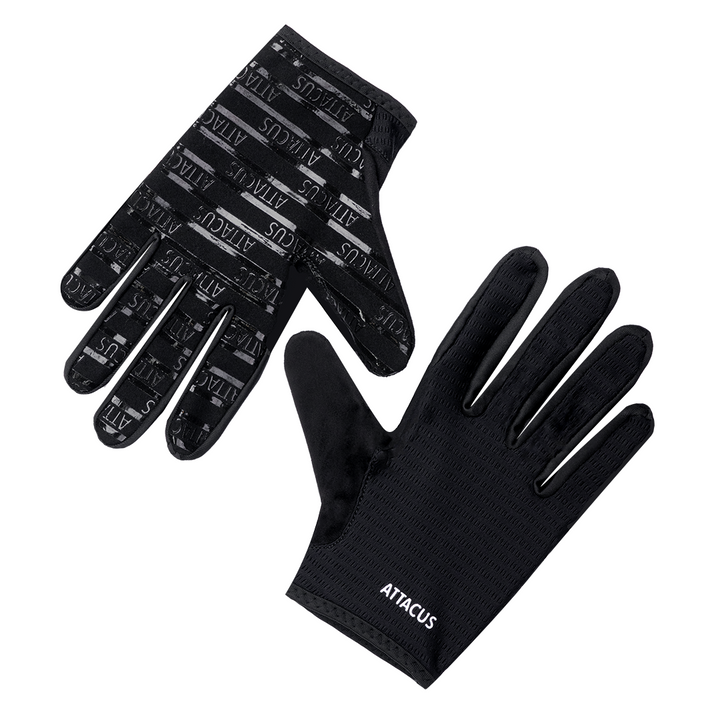 Black Lightweight Full Finger Gloves