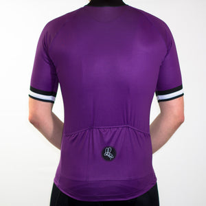 Men's purple mod summer short sleeve cycling jersey slim fit