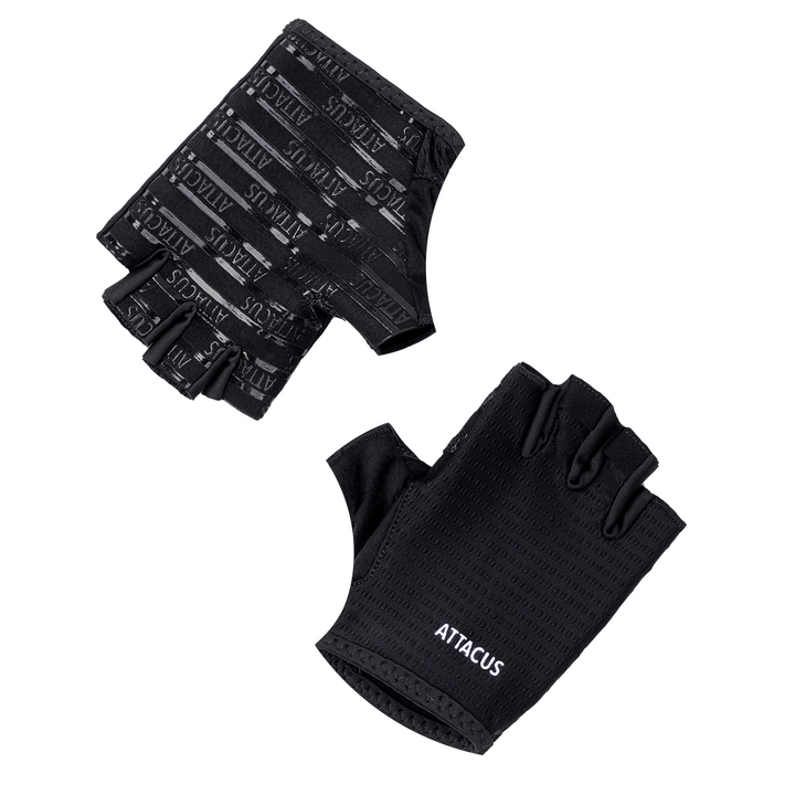 Black Lightweight Short Finger Gloves