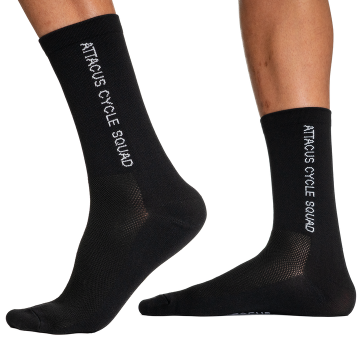 Squad Black Premium Cycling Socks