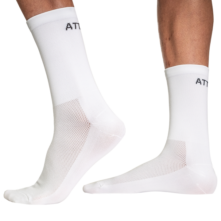 White Premium Cycling Socks