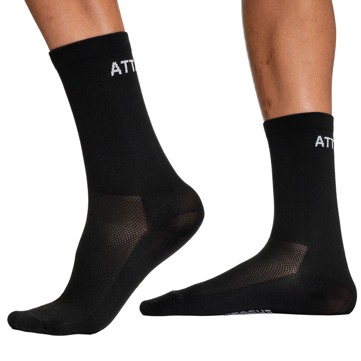 Black Premium Cycling Socks