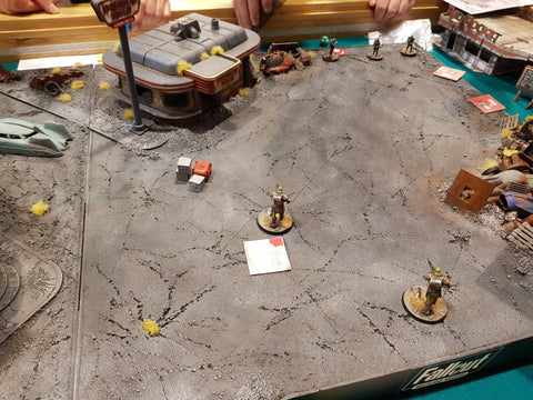 Fallout Miniatures Game in action