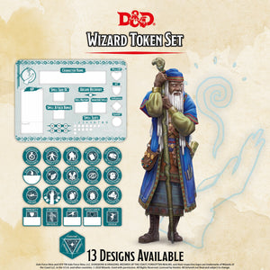 D&D RPG: Wizard Token Set ( Player Board & 22 Tokens)