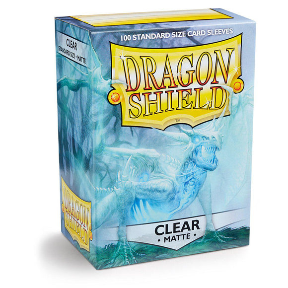 Dragon Shield Matte Clear - 100 Standard Size Sleeves Box