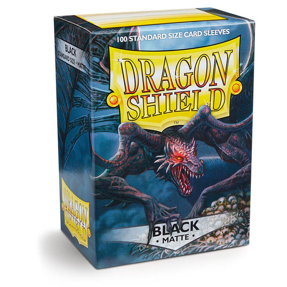 Dragon Shield Matte Black - 100 Standard Size Sleeves Box
