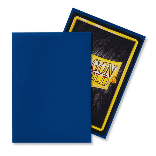 Dragon Shield Matte Blue - 100 Standard Size Sleeves Example