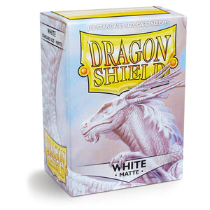 Dragon Shield Matte White - 100 Standard Size Sleeves Box