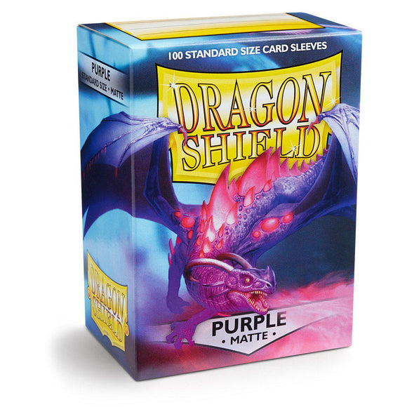 Dragon Shield Matte Purple - 100 Standard Size Sleeves Box