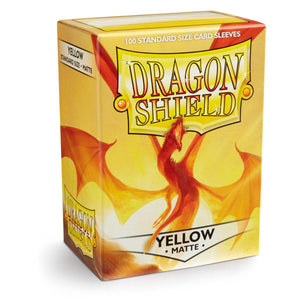 Dragon Shield Matte Yellow - 100 Standard Size Sleeves Box