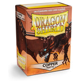 Dragon Shield Matte Copper - 100 Standard Size Sleeves Box