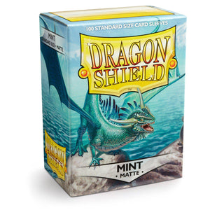 Dragon Shield Matte Mint - 100 Standard Size Sleeves Box