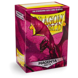 Dragon Shield Matte Magenta - 100 Standard Size Sleeves Box