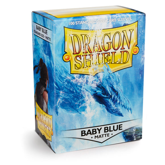Dragon Shield Matte Baby Blue - 100 Standard Size Sleeves